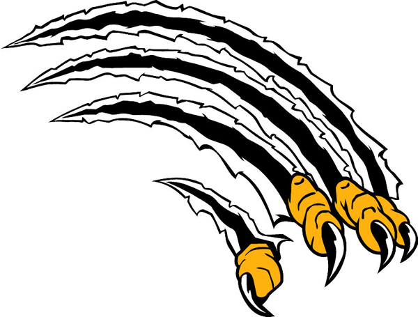 Bird Claws mascot sports decal. Show team pride!