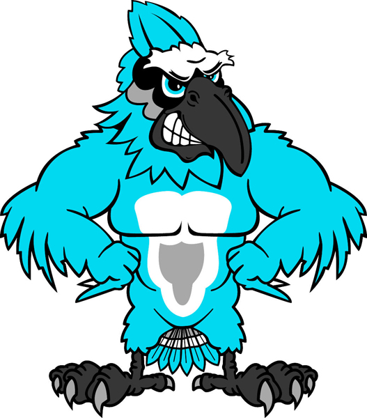 Blue Jay mascot team sticker. Display your team pride!