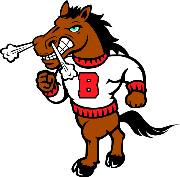 Bronco 2 mascot team decal. Make it personal.