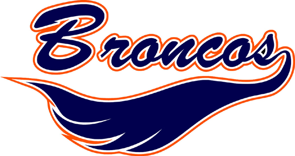 Broncos in text sports decal. Own it today!