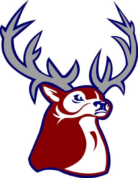 Buck team mascot full color vinyl sports sticker. Customize on line. Buck1