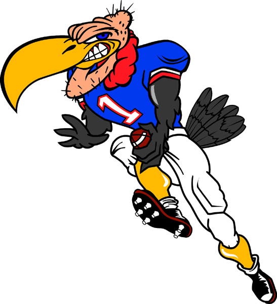 Buzzard mascot Football team sticker. Personalize on line.