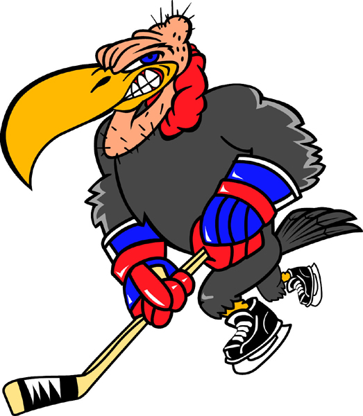 Buzzard mascot hockey team decal Personalize on line.
