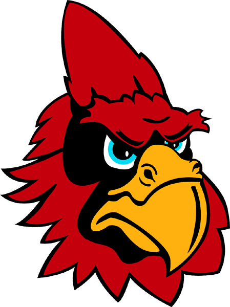 Cardinal Head 3 mascot team sticker. Get it now!