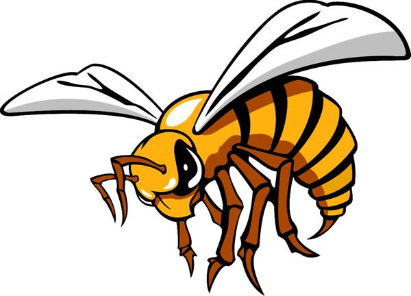 Signspecialist Com Mascots Decals Hornet 1 Mascot Sports Decal