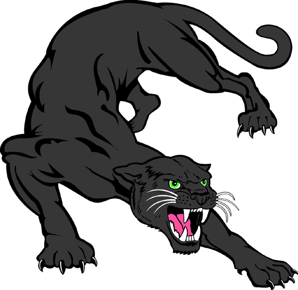 Panther 1 mascot sports decal. Show your team spirit!