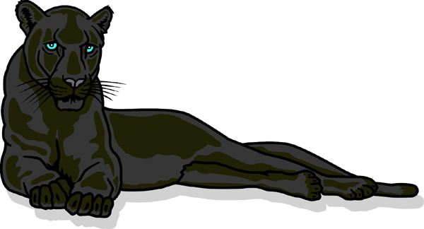 Panther 2 mascot sports decal. Make it yours!