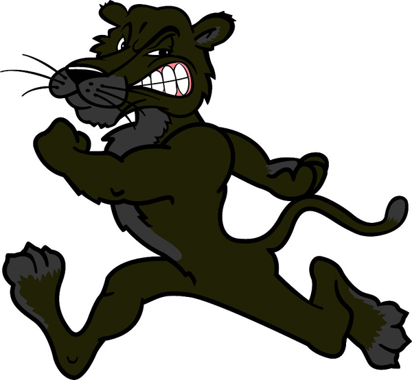 Panther mascot sports decal. Make it your own!