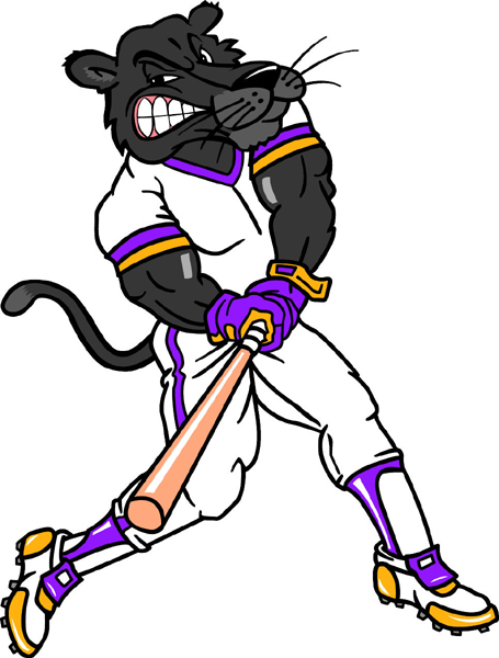 Panther baseball player color team mascot vinyl sports decal. Personalize on line. Panther Baseball
