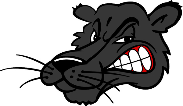 Panther mascot vinyl sports decal. Display team pride! Panther Head 2
