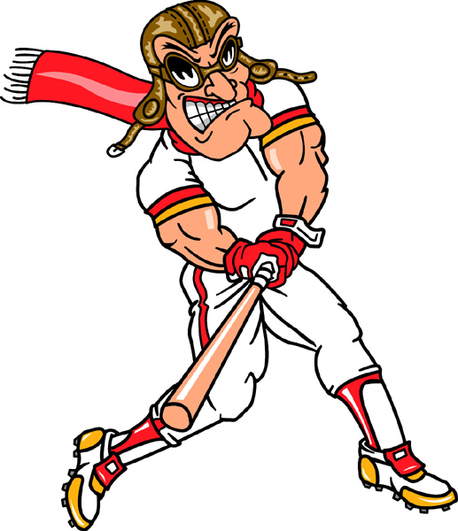 Pilot baseball player team mascot color vinyl sports sticker. Customize on line. Pilot Baseball