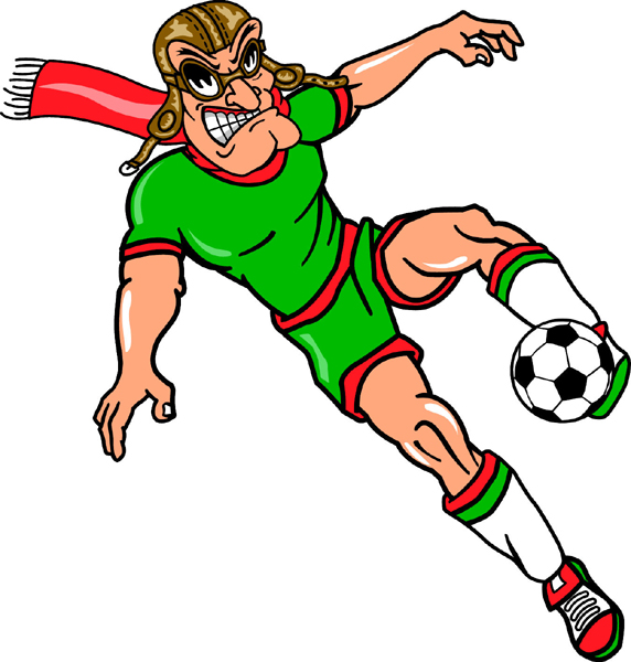 Pilot soccer player team mascot color vinyl sports sticker. Customize on line. Pilot soccer