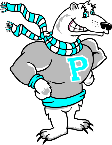 Polar Bear 1 mascot team sticker. Make it personal.