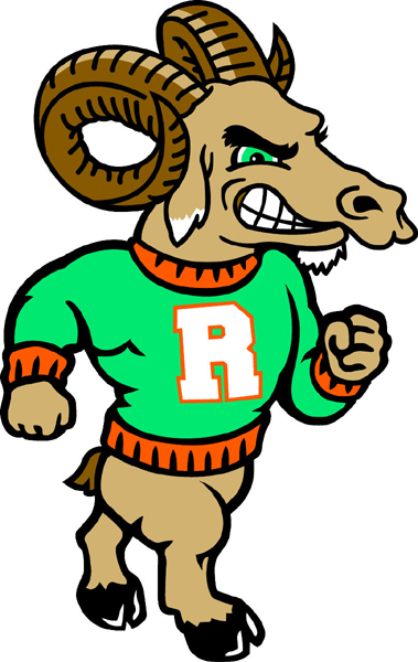Ram team mascot color vinyl sports decal. Make it your own. Ram 2
