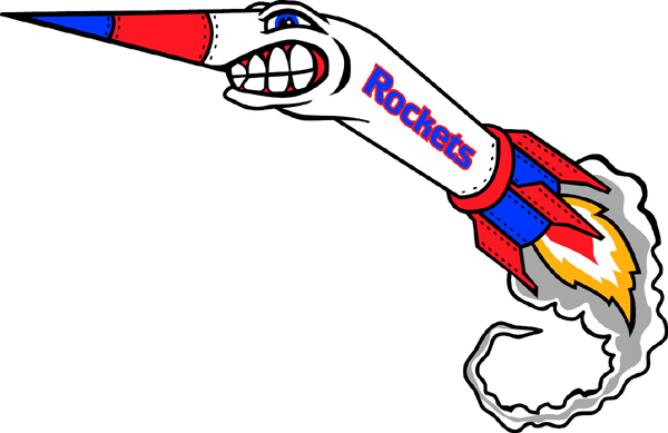Rockets team mascot color vinyl sports decal. Make it personally your own. Rocket 1