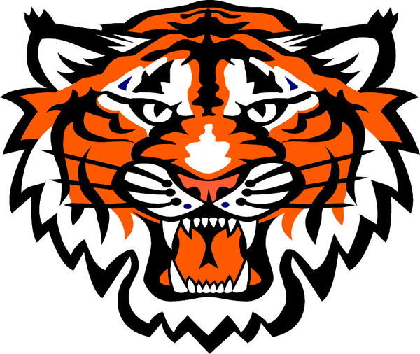 signspecialist com mascots decals tiger head team Auburn Tigers Football Logo Auburn University Tiger Logo