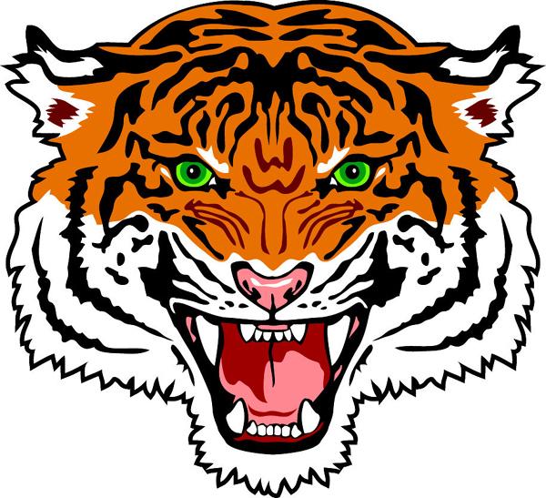 Signspecialist Com Mascots Decals Tiger Head Team