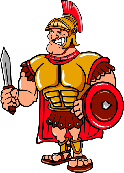 Trojan mascot team sports decal. Let your team pride shine!