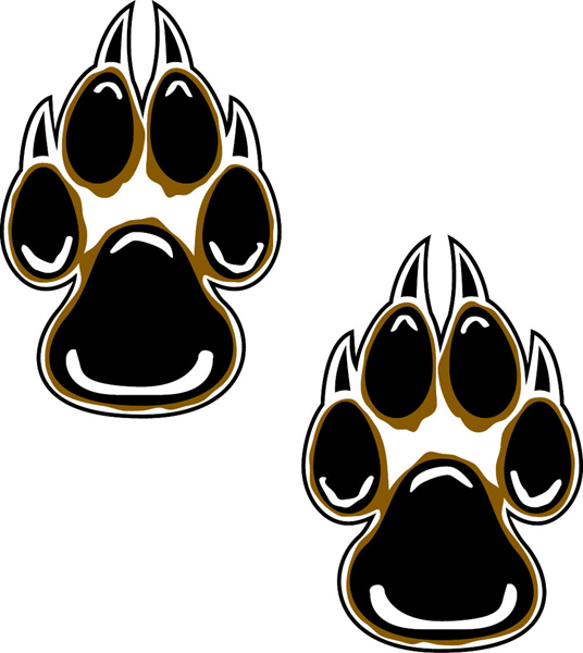 Wolf tracks vinyl sports decal. Make it personal! Wolf tracks