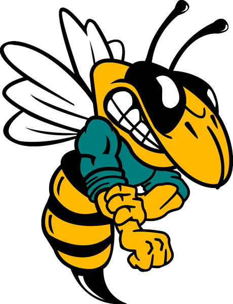 Yellow Jacket mascot vinyl sports decal. Personalize your team! Yellow Jacket2