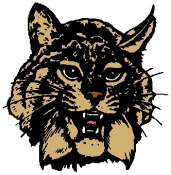 Wildcat mascot sports sticker. Customize on line. 2a11- wildcat mascot