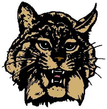 Wildcat mascot sports sticker. Customize on line. 2a11- wildcat mascot