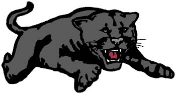 Panther mascot sports sticker. Customize on line.  2a12- bobcat mascot