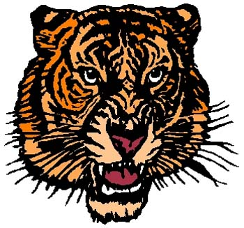 Tiger mascot sports decal. Personalize as you order. 2a14 - mascot tiger decal