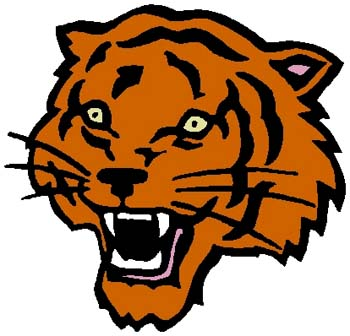 Tiger mascot color sports decal. Personalize on line. 2a17 - tiger decal
