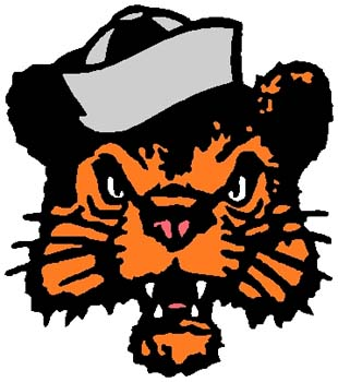 Wildcat mascot sports decal. Customize on line. 2a19 - wildcat bobcat with hat mascot decal