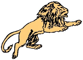 Lion mascot color sports sticker. Personalize on line. 2a20 - lion mascot decal graphic