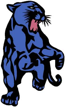 Panther mascot sports decal. Customize on line. 2a8 cougar sticker