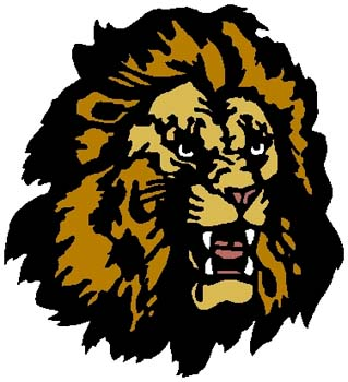 Lion mascot color sports decal. Customize as you order. 2b19  lion