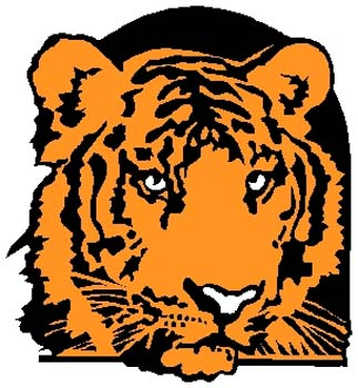 Tiger mascot sports decal. Personalize on line. 2b2 - tiger mascot