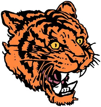 Tiger mascot full color sports sticker. Customize on line. 2b3 tiger decal