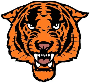 Tiger mascot sports sticker. Customize on line. 2b4 tiger decal