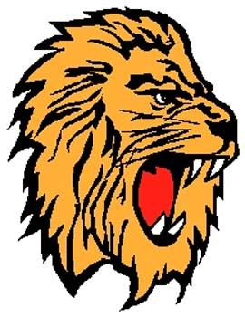 Lion mascot full color sports decal. Personalize on line. 2b7 tiger decal graphic