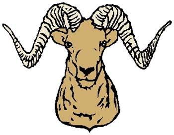 Ram mascot sports sticker. Customize on line. 2e11 ramhead sticker