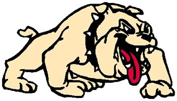 Bulldog mascot sports decal. Customize as you order. 2f1 bulldog mascot decal