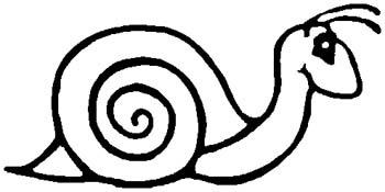 Snail mascot sports decal. Personalize on line. 6l9 snail vinyl decal