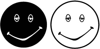 Day and Night Smiley Faces vinyl Stickers Customized Online. 00000342