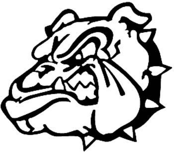 Growling bulldog head vinyl sticker customized your way online. 00000349
