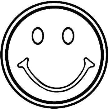 Smiley Face vinyl sticker customized online. 00000372