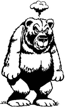 Mad bear vinyl decal customize on line.  00000914