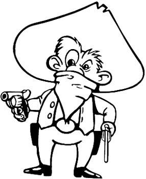 Bandit with gun vinyl sticker customized online. 00000922