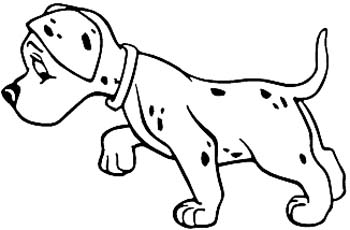 Dalmatian puppy dog vinyl sticker customized online.  00000923