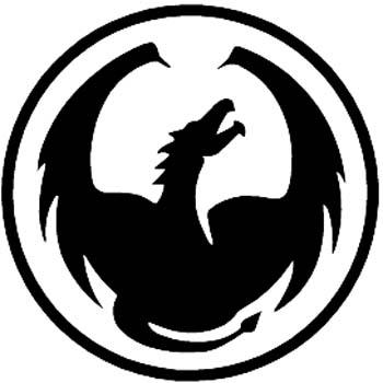Flying dragon silhouette vinyl sticker customized online.  00000932