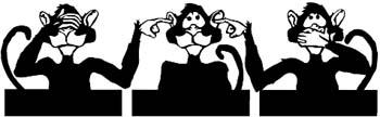 Monkeys, hear- see - speak  no evil. Personalize on line. 00000948