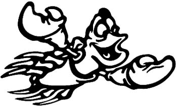 Flying crustacean vinyl decal. Customize on line. 00000962