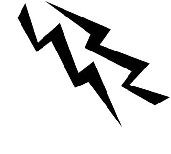 Lightning Bolts vinyl sticker. Customize on line. 0007_lightning_bolts